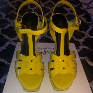Authentic YSL heeled sandals
